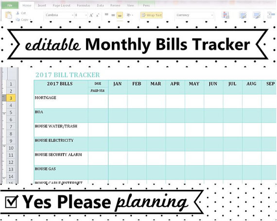 editable monthly bill tracker spreadsheet template free planning - bills template free