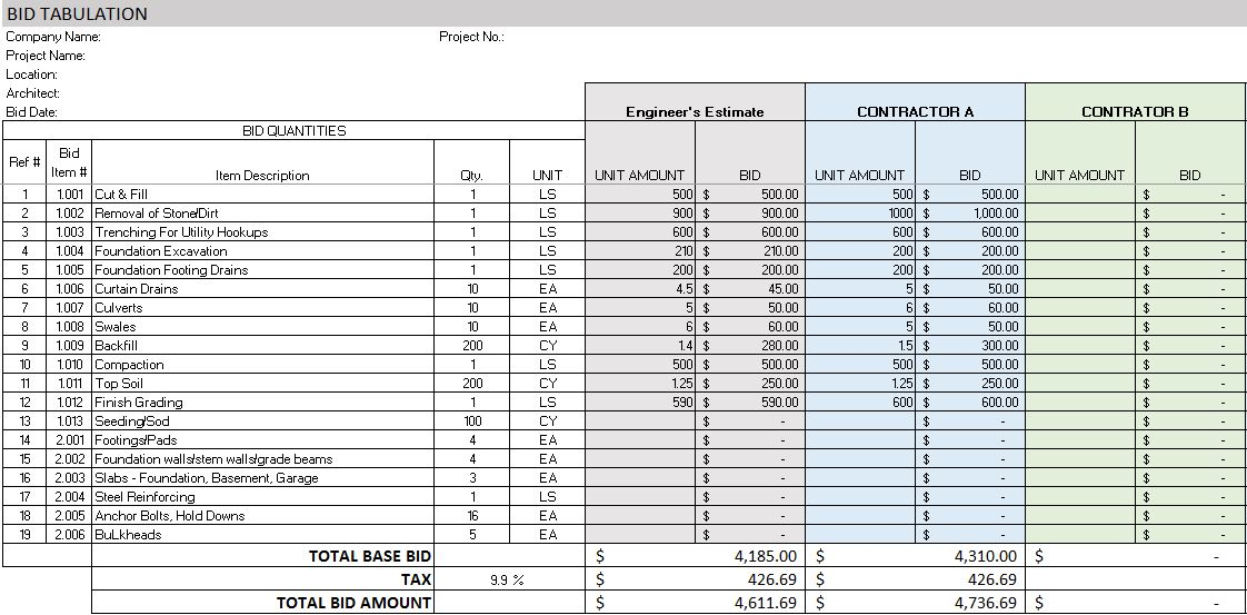 site expenses format