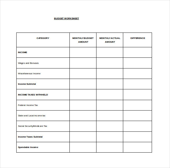 monthly bill organizer budget template excel Free Download
