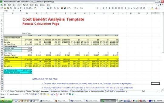 project cost benefit analysis template free download