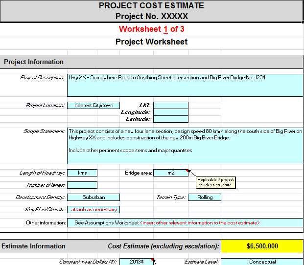 Free Project Cost Estimating Spreadsheet
