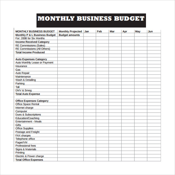 weekly business budget worksheet template PDF - SampleBusinessResume