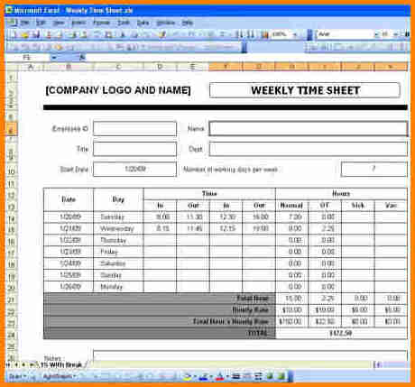 excel payroll template free - Towerssconstruction