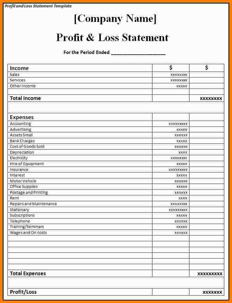 profit and loss statement for small business - SampleBusinessResume