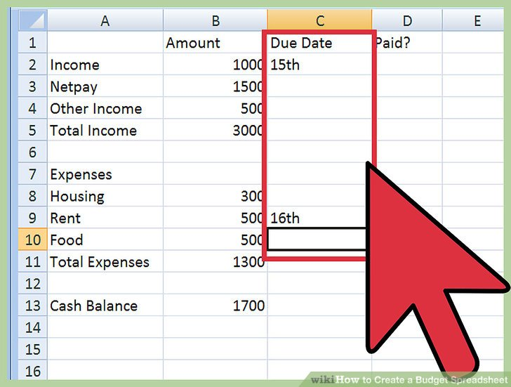 How To Create A Budget Spreadsheet - SampleBusinessResume - creating a budget