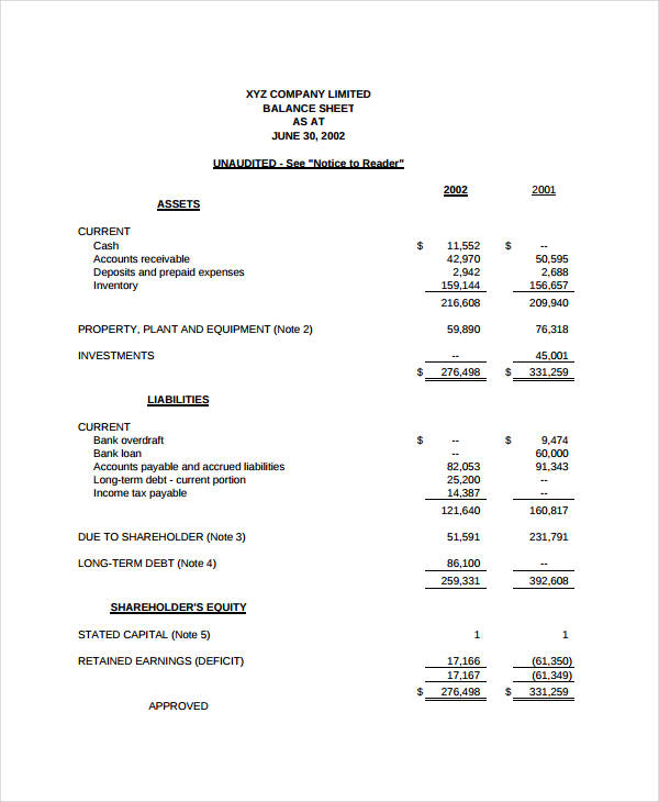 free simple printable income statement template