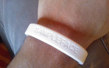 Get Yourself A Sampleface Wristband!