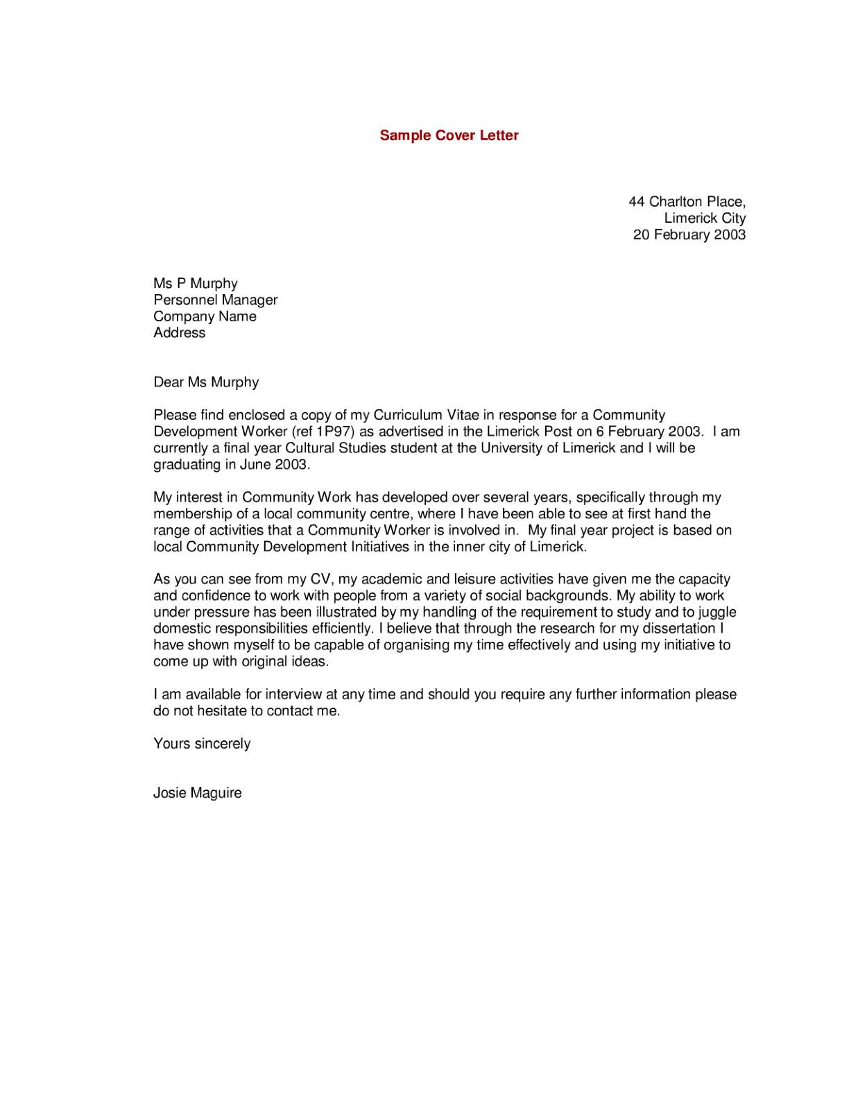 example of cv covering letter template example of cv covering letter