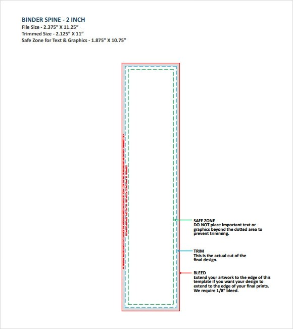 "2 inch binder spine template - 1"" binder spine template"