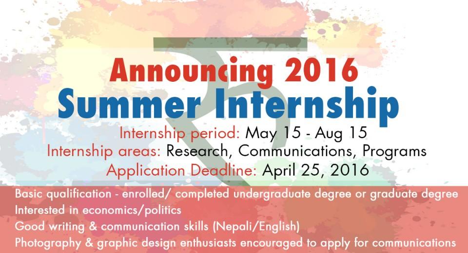 Summer Internship 2016 at Samriddhi! Samriddhi Foundation