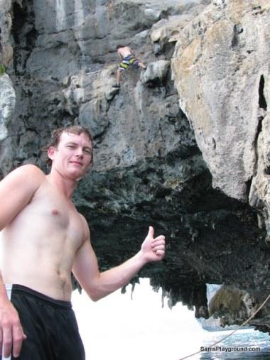Cliff Jumping James Sam
