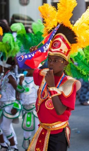 Carafiesta parade kid in red