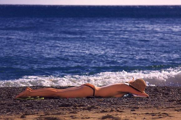 Sunbathing in Greece image