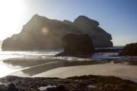 Wharariki Beach Sun Setting