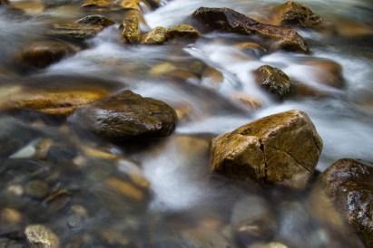 River rocks long exposure