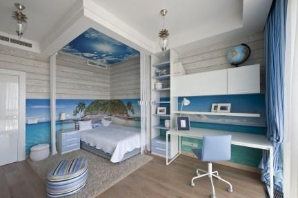 slaapkamer strandstijl: vakantiehuis de zonneburg in noordwijk, Deco ideeën