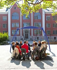 iScafé! på S:t Hansskolans skolgård, Almedalsveckan 2014