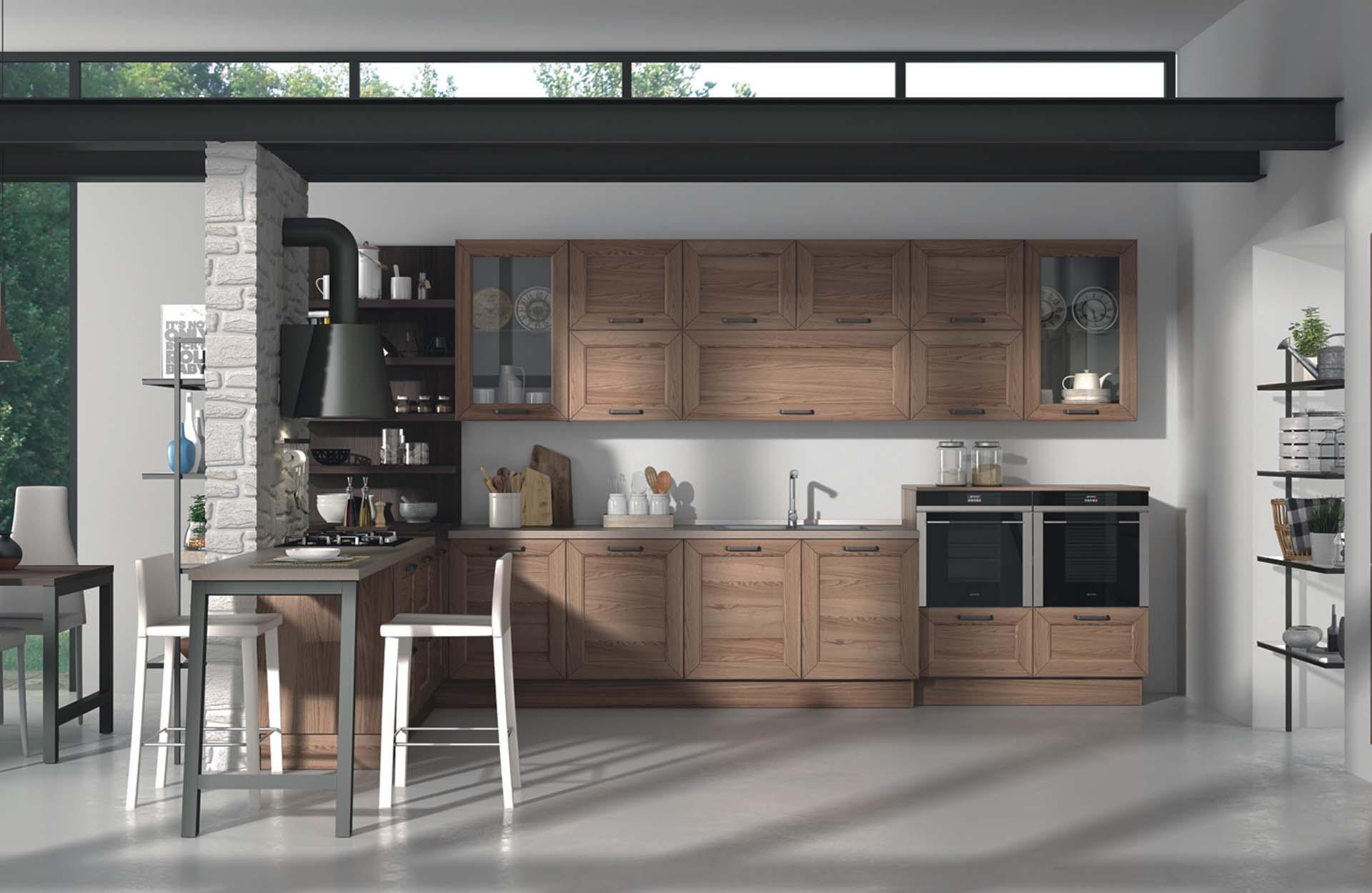 Arredo Legno Cucine | Cucina Costruita In Legno Di Rovere Su Misura ...