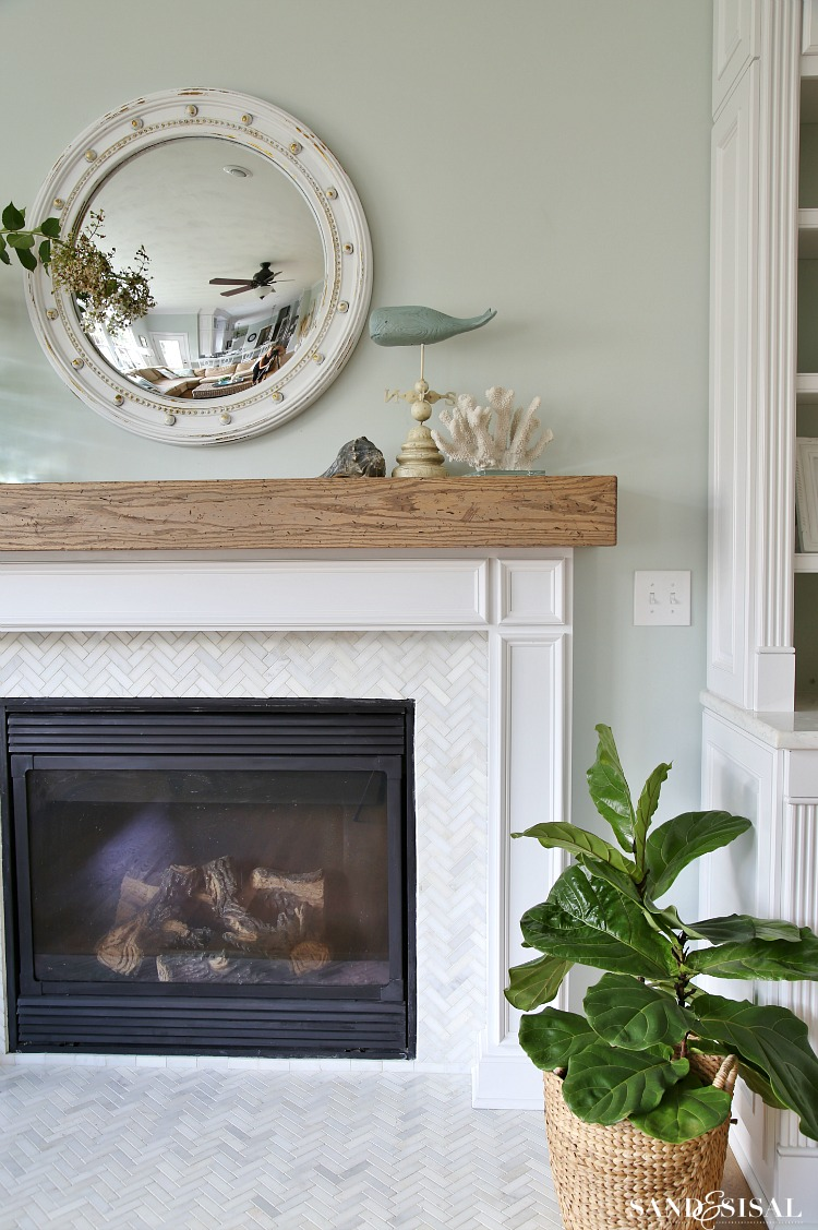 Fireplace Beams Diy Wood Beam Mantel
