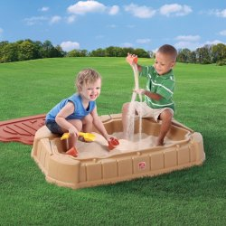 Small Crop Of Two Kids In A Sandbox