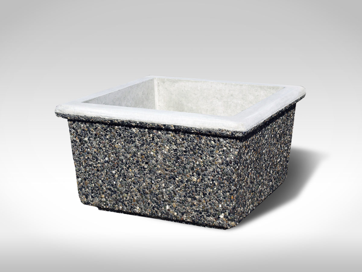 Square Concrete Planter Square Lipped Tall Precast Concrete Sanderson Concrete
