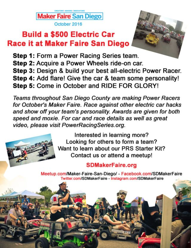 Power Racing Series Flyer