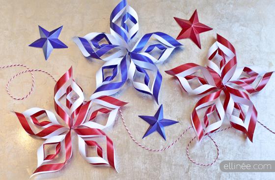 DIY 4th of July 3D Paper Stars