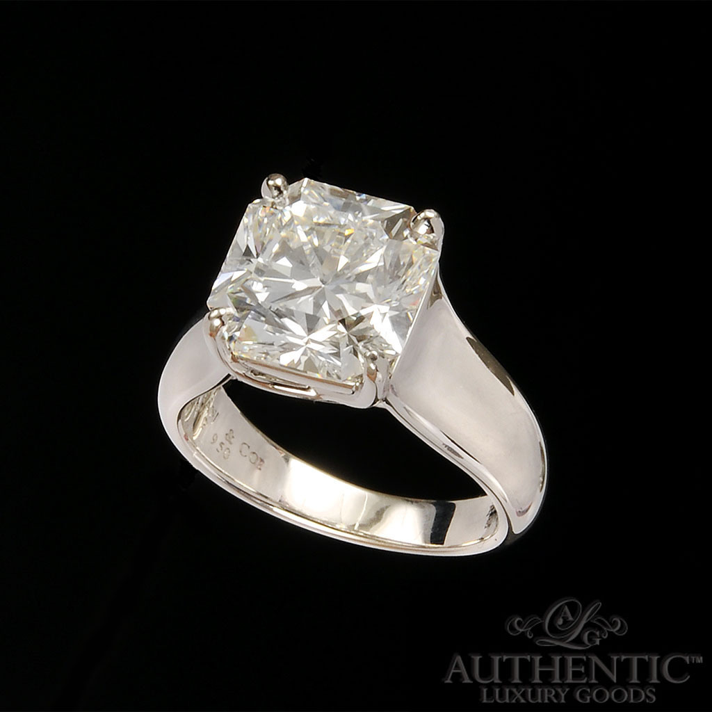 sandiegojewelrypawnshops wedding rings for sale For Sale 5 Carat Tiffany Co Lucida Diamond Ring