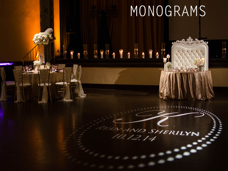 Wedding Monograms Gobos San Diego