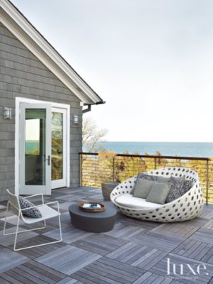 B&b Luxe Contemporary Gray Balcony With Lounge Chair Luxe Interiors Design