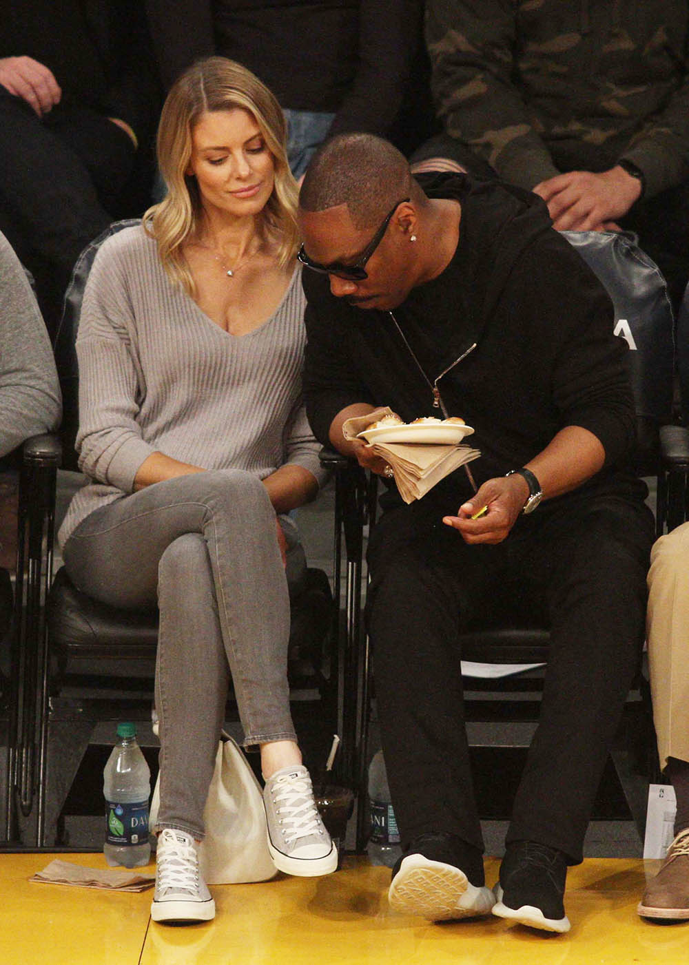 Interior Design Jobs Los Angeles Eddie Murphy & Paige Butcher At The Los Angeles Lakers