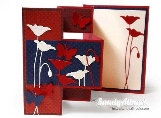 TriFold Shutter Card Tutorial \u2013 new! With room to write! \u2013 Sandy Allnock
