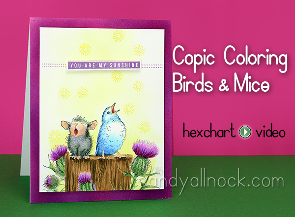 Sandy Allnock Copic Coloring Birds and Mice