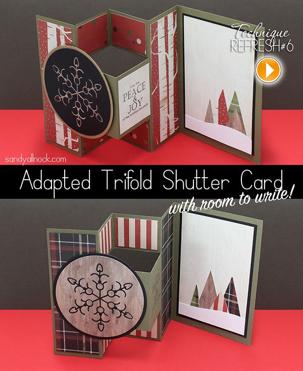 Free Template Adapted Tri-fold Shutter Card \u2013 Sandy Allnock