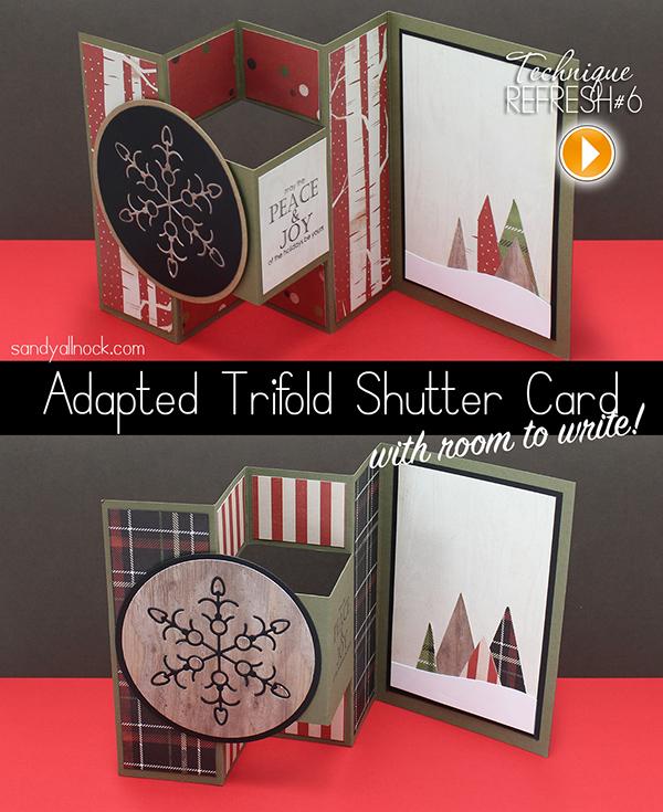 Free Template Adapted Tri Fold Shutter Card Sandy Allnock