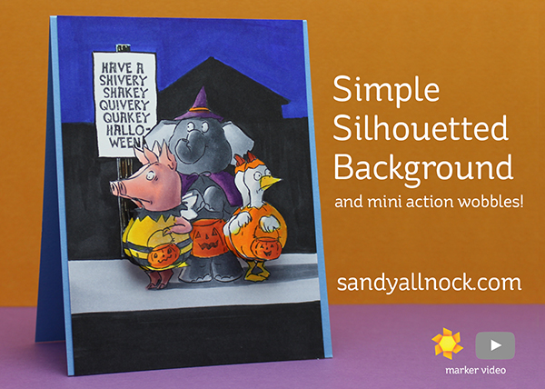 Sandy Allnock Simple Silhouetted Background