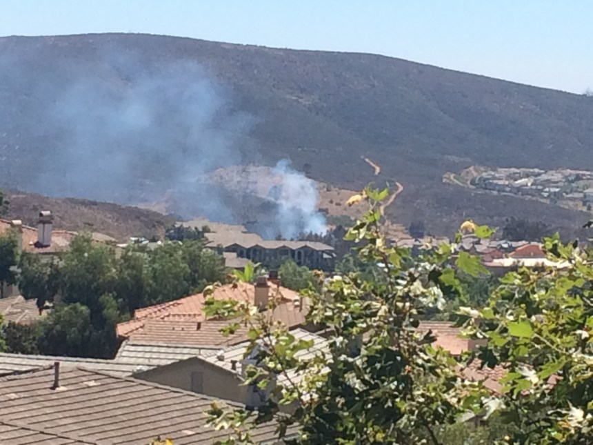 Small San Elijo Hills Vegetation Fire is out