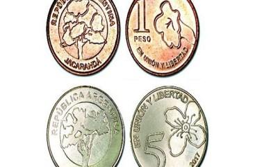 Ya circulan las nuevas monedas de 1 y 5 pesos