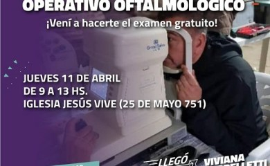 San Genaro: Acercate al Operativo Oftalmológico gratuito