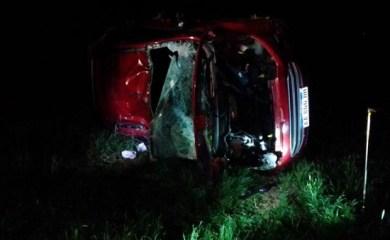 Ruta 65 San Genaro – Diaz: Volcó su auto y terminó dentro de un campo