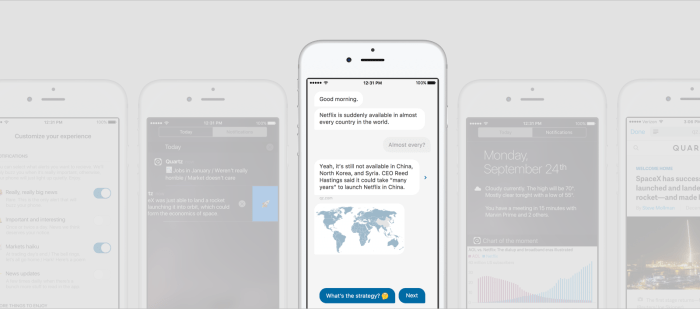 Quartz's Innovative News App With Interactive Chat Bulletin