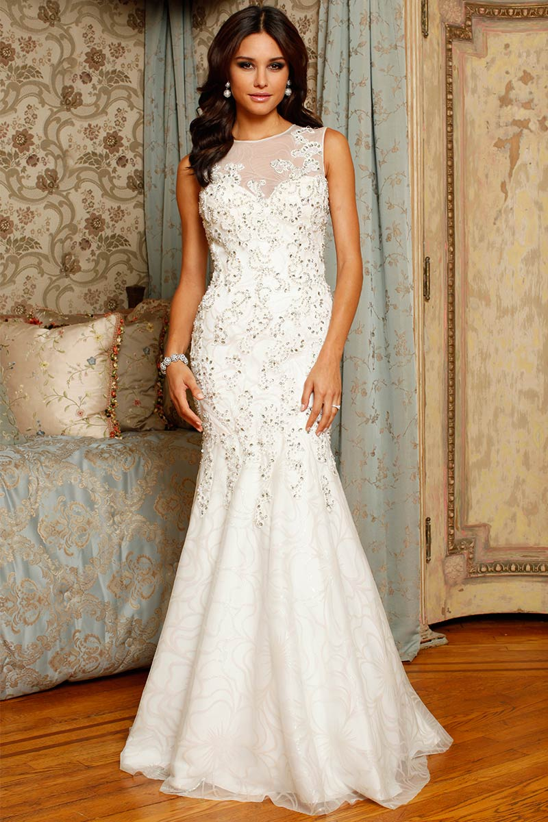 gorgeous sleeveless mermaid wedding dress sangmaestro