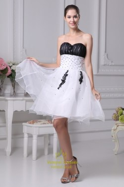Small Of Black And White Wedding Dress
