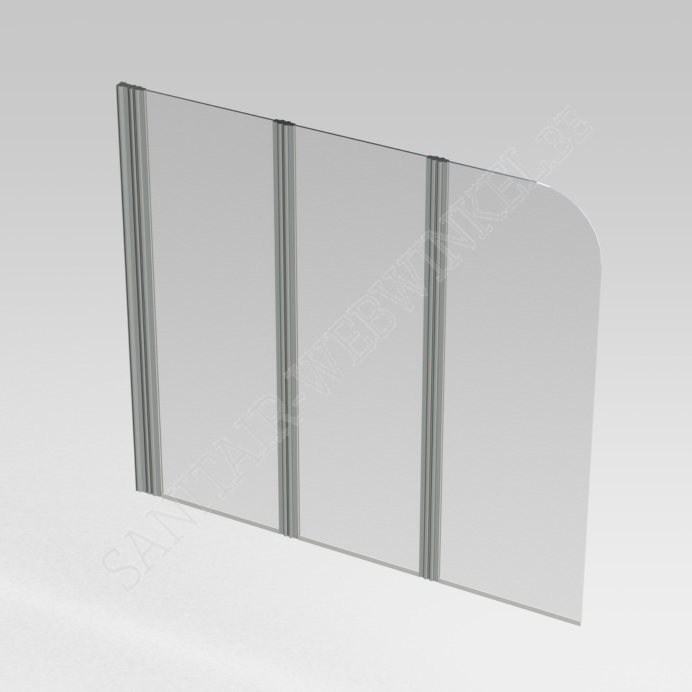 Bad Wand Glas Pannello Badwand 3 Delig 1500 X 1400 Mm