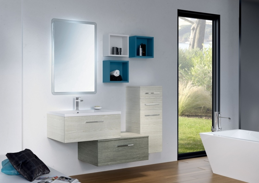 Meuble Simple Vasque Meuble Simple Vasque Vogue 70 Sciée Blanc Et Gris Sanitairepro
