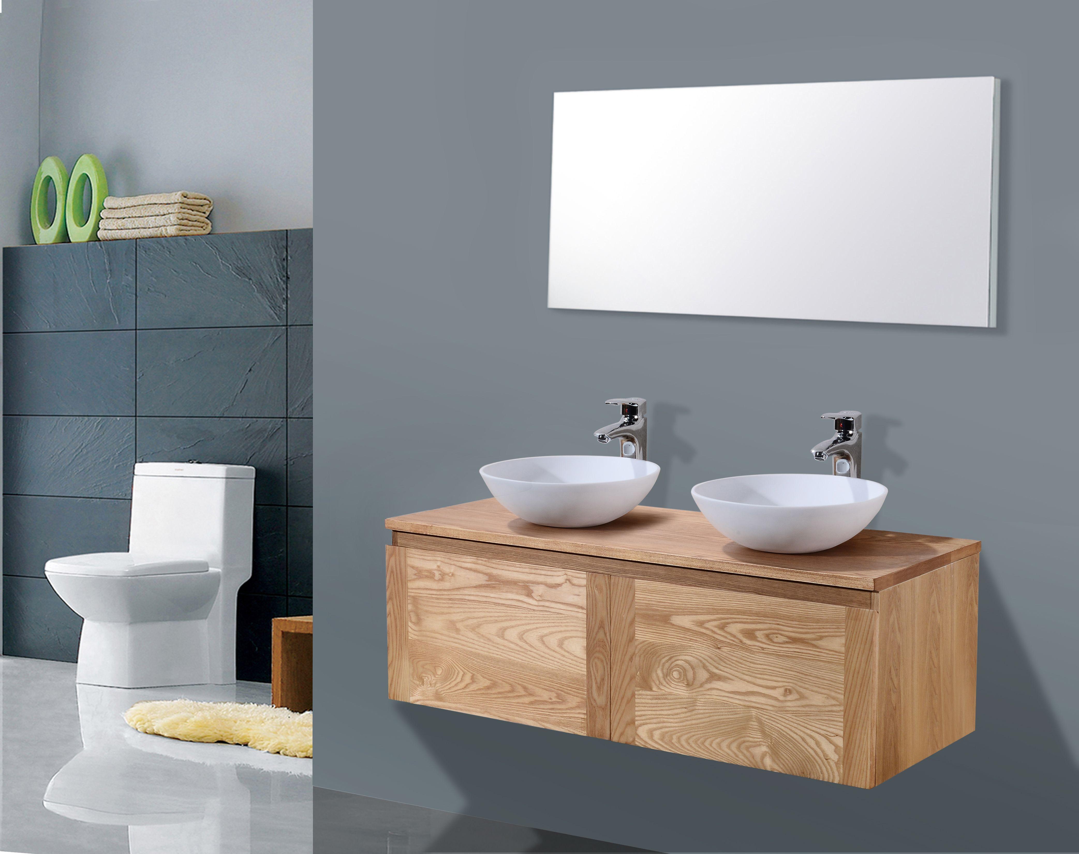Badkamer Onderkast Hout : Badkamer onderkast eiken onderkast btbadmeubelen