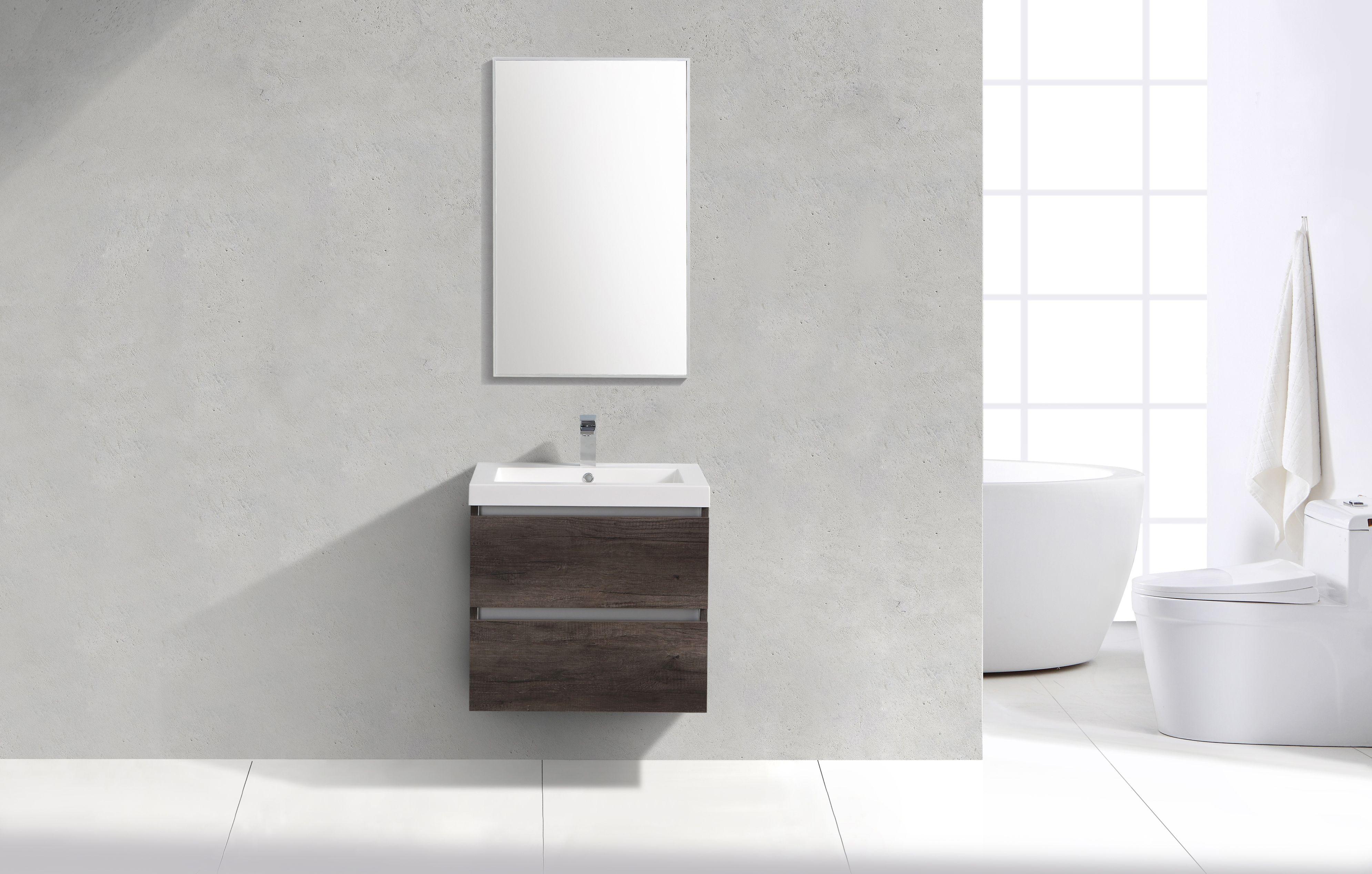 Badkamermeubel alke quadro spiegelkast 100 cm