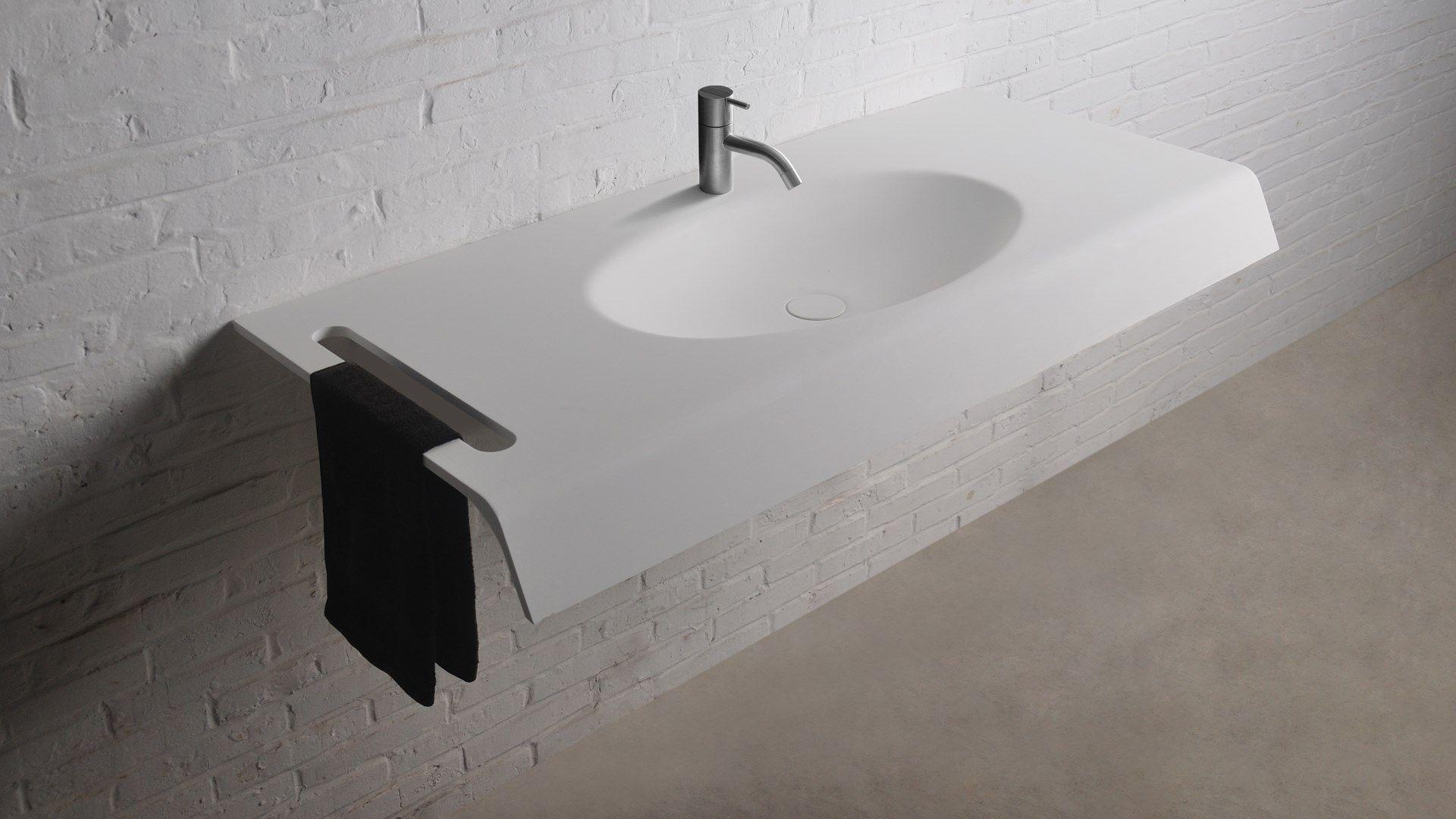Wasbak badkamer inbouw kerra calpe inbouw wastafel 60x48cm wit