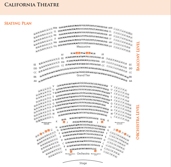 Seating Charts - San Jose Theaters