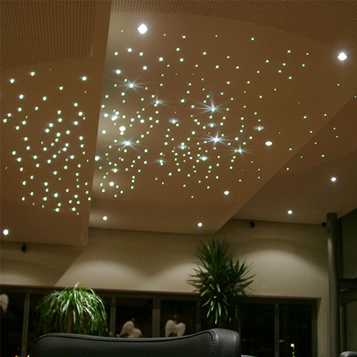 Led Panel Dimmbar Fiber Optic Star Ceiling Kit - 5w - Twinkle | Fiber Optic